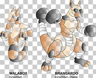 Digital Art Kangaroo Boxing PNG