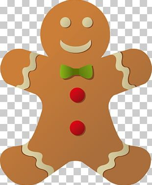 The Gingerbread Man Gingerbread House Santa Claus PNG