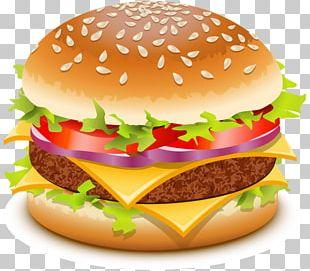 Hamburger Cheeseburger Fast Food Beer Chicken Sandwich PNG