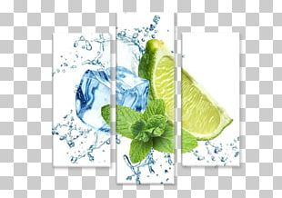 Lemon Ice Cube Mint Water Concentrate PNG