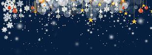Stars And Christmas Balls PNG