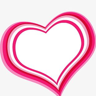 Pink Heart-shaped Border PNG