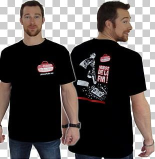 Long-sleeved T-shirt Black M Shoulder PNG