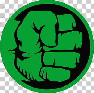 Hulk Logo Superhero Decal PNG