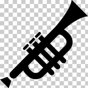 Trumpet Silhouette Mellophone PNG