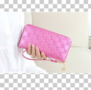 Handbag Wallet Pink M PNG