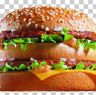 McDonald's Big Mac Hamburger Veggie Burger Fast Food PNG