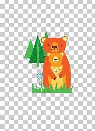 Bear Drawing Watercolor Painting Illustration PNG