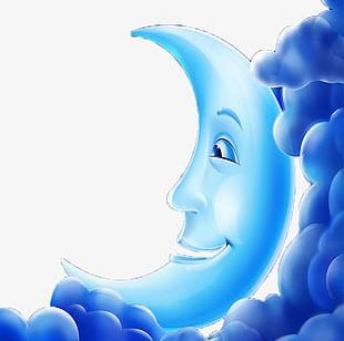 Blue Clouds Moon Palace PNG
