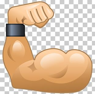 Muscle Emoticon Arm Biceps Emoji PNG