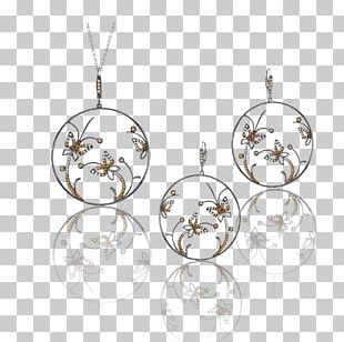 Locket Earring Christmas Ornament Body Jewellery Silver PNG