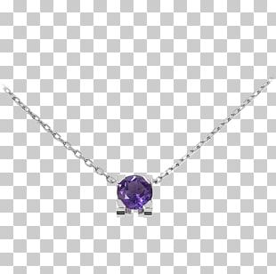 Amethyst Necklace Jewellery Diamond Gold PNG