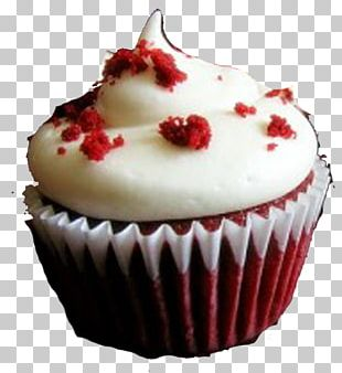 Red Velvet Cake Cupcake Frosting & Icing Bakery Cream PNG