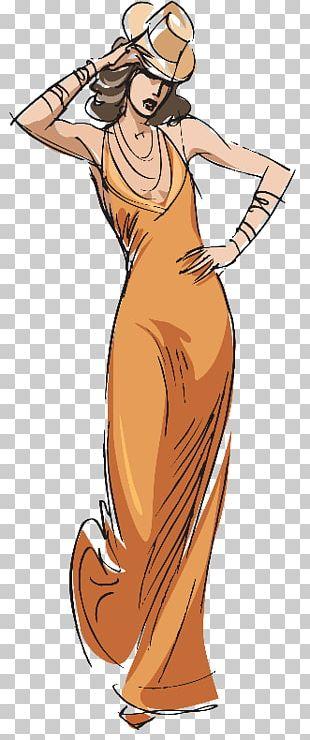 Dress Clothing Woman Skirt Drawing PNG