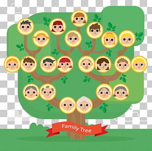 Family Tree Flat Design PNG