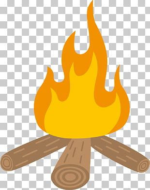 Bonfire Camping Campsite Cartoon PNG