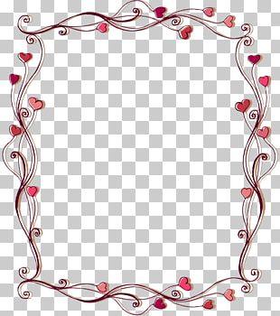 Love Border Frame PNG