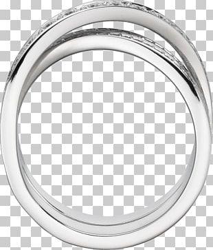 Wedding Ring Diamond Brilliant Białe Złoto PNG