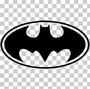Batman Logo Superhero Decal PNG
