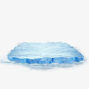 Sky Blue Ice Cubes PNG
