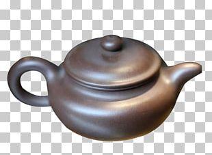 Yixing Teapot Purple Printing PNG