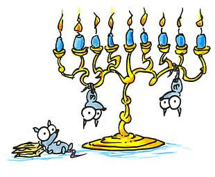 Hanukkah Menorah Judaism PNG
