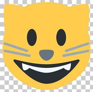 Cat Emoji Smile Sticker Kitten PNG