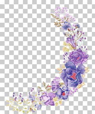 Floral Design Flower Purple Wreath PNG