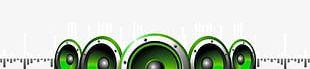 Green Music Speaker Artwork PNG
