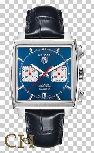 TAG Heuer Monaco Calibre 12 Watch Chronograph PNG
