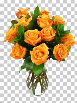 Flower Bouquet Rose Floristry Yellow PNG