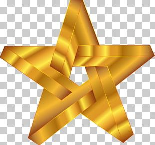 Open Gold Star PNG