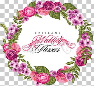Wedding Invitation Flower Wreath PNG