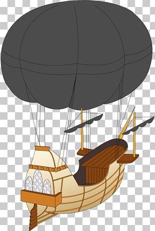 Hot Air Balloon Cartoon Ship Boat PNG