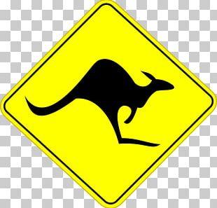 Kangaroo Road Sign Australia PNG