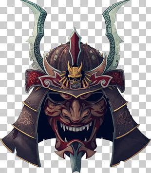 Japan Samurai Oni Mask Tattoo PNG