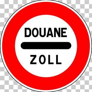 Customs Stop Road Sign PNG