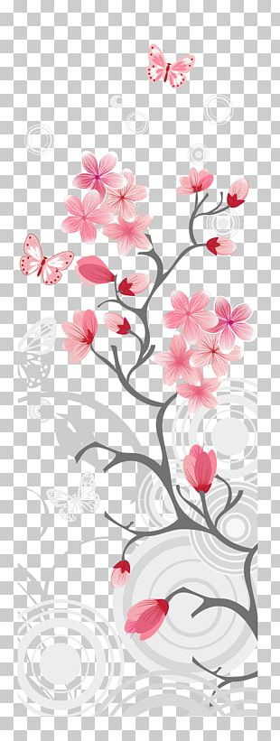 Cherry Blossom Illustration PNG
