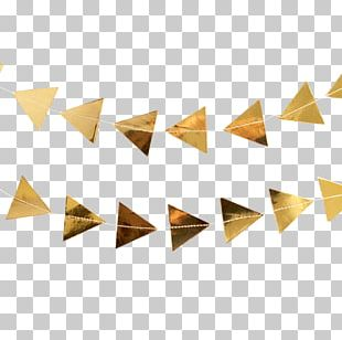 Paper Triangle Gold Party Decagon PNG