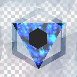 Geometry Triangle Crystal Line Blue PNG