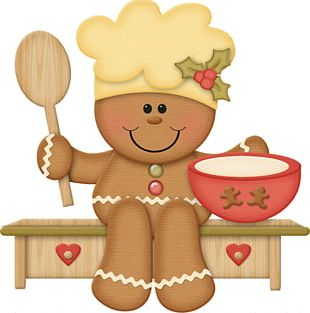 Gingerbread Man Christmas PNG