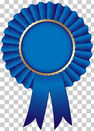 Rosette Blue Ribbon PNG
