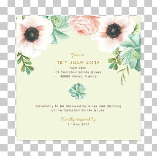 Wedding Invitation Greeting & Note Cards Green Wedding Convite PNG