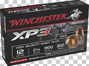 Shotgun Slug Sabot Shotgun Shell 20-gauge Shotgun PNG