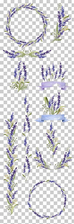 Watercolor Painting Flower Art Lavender PNG