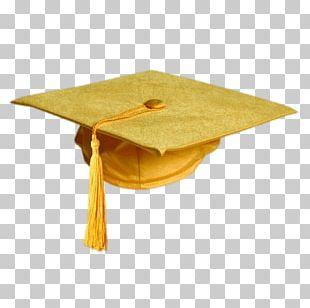 Gold Colour Graduation Hat PNG