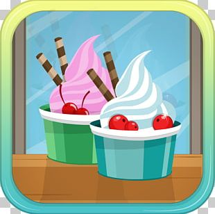 Sundae Frozen Yogurt Ice Cream Cones Italian Ice PNG