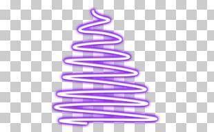 Christmas Tree Line Font PNG