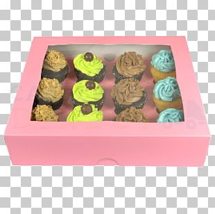 Cupcake Petit Four Box Birthday Cake Muffin PNG