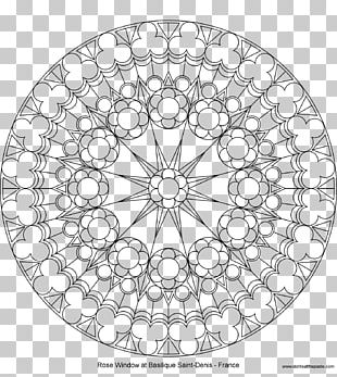 Rose Window Stained Glass Coloring Book PNG